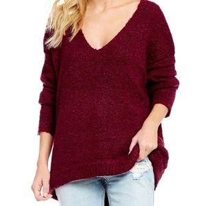 Free People Lofty V-Neck Sweater